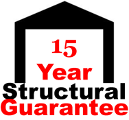 Concrete Garages 15 year structural guarantee