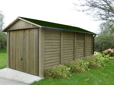 Leofric The Burford 2 Concrete Building with Log Effect panels