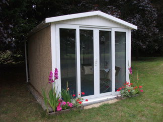 Leofric Garden Rooms with Sliding Glass Doors