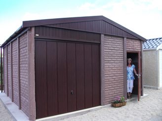 Leofric Stratford Concrete Garage with Apex Roof